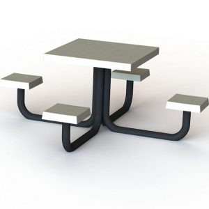 שולחן וספסל אלון