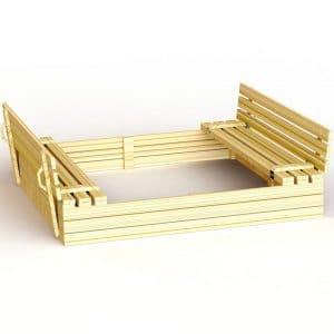 ארגז חול עם ספסל