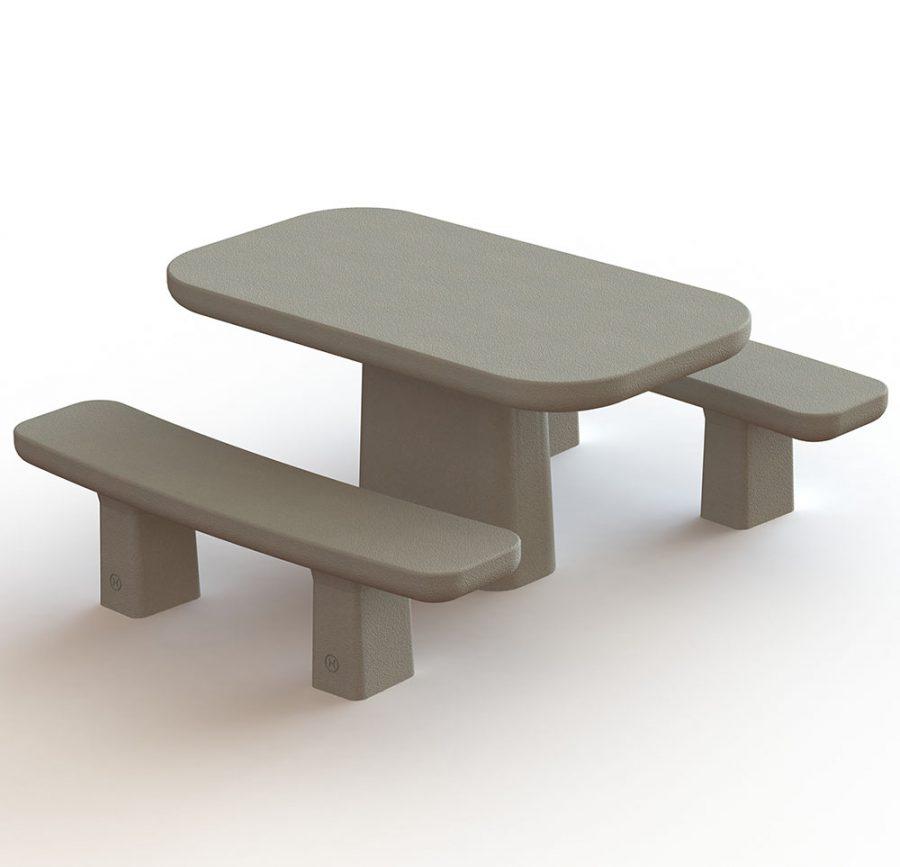 שולחן וספסל