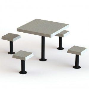 שולחן עם סלסל